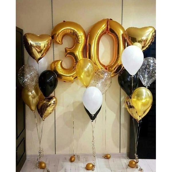 Воздушные шары. Доставка в Москве: Набор воздушных шаров на 30 лет Цены на https://sharsky.msk.ru/