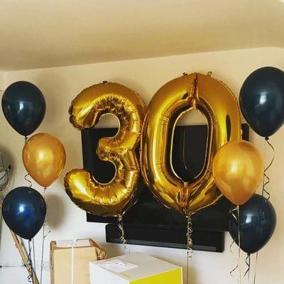 Сет шаров на 30 лет