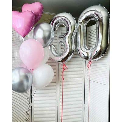Сет шаров на 30 лет девушке