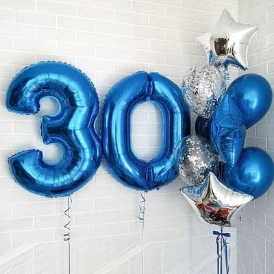 Сет шаров на 30 лет парню