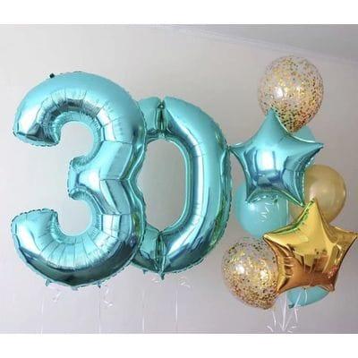 Сет воздушных шаров на 30 лет
