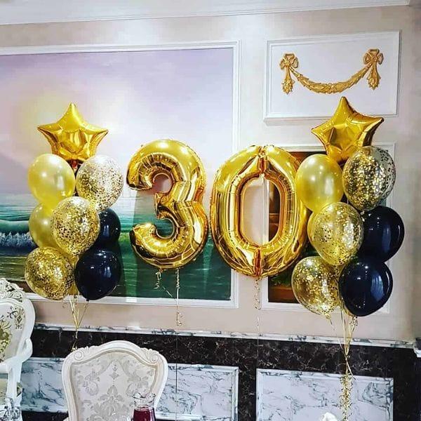 Воздушные шары. Доставка в Москве: Шарики на День Рождения мужчине 30 лет Цены на https://sharsky.msk.ru/