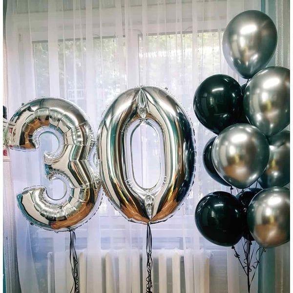 Воздушные шары. Доставка в Москве: Шары мужчине на 30 лет Цены на https://sharsky.msk.ru/