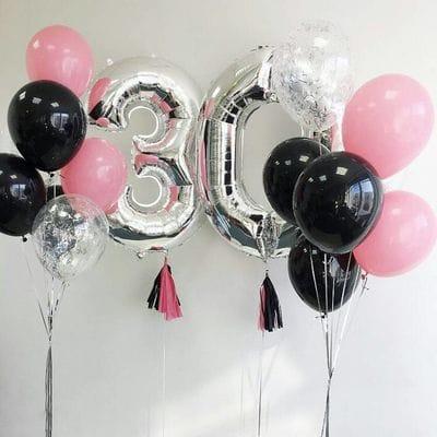 Шары на 30 лет для девушки