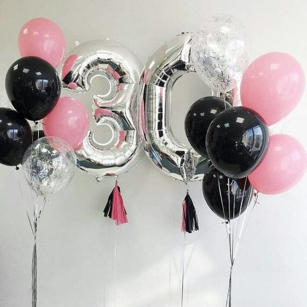 Воздушные шары. Доставка в Москве: Шары на 30 лет для девушки Цены на https://sharsky.msk.ru/