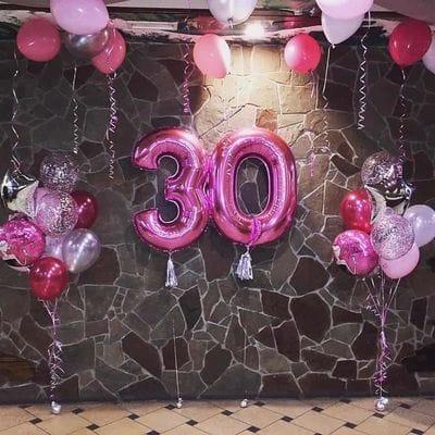Украшение шарами на 30 лет девушке
