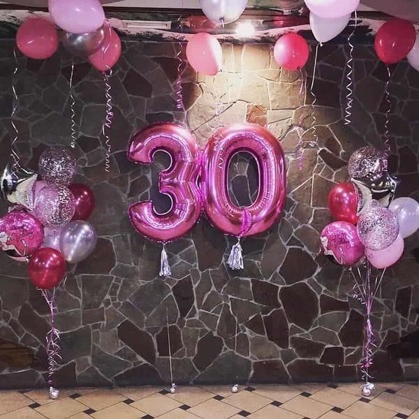 Воздушные шары. Доставка в Москве: Украшение шарами на 30 лет девушке Цены на https://sharsky.msk.ru/
