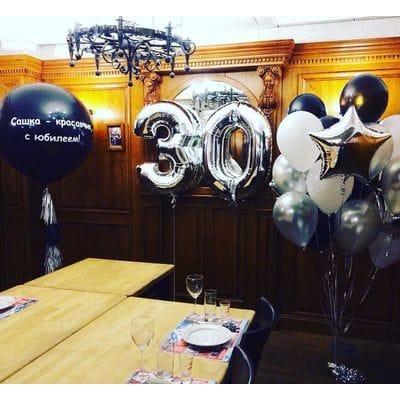 Украшение шарами на 30 лет мужчине