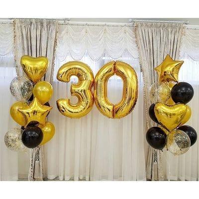 Украшение шариками на 30 лет