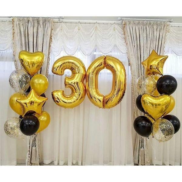 Воздушные шары. Доставка в Москве: Украшение шариками на 30 лет Цены на https://sharsky.msk.ru/
