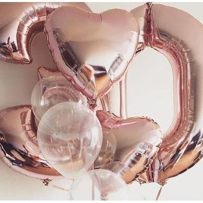 Воздушные шары на 30 лет любимой