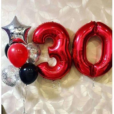 Воздушные шары на 30 лет подруге