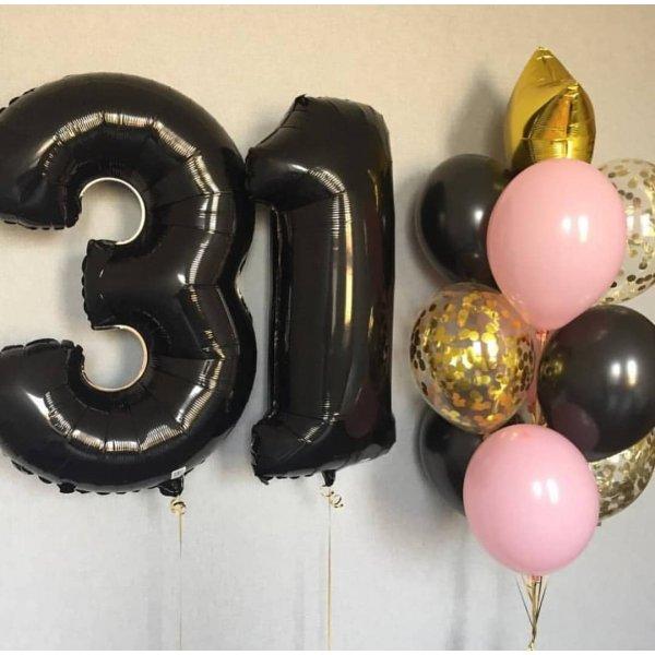 Воздушные шары. Доставка в Москве: Букет шаров на 31 год Цены на https://sharsky.msk.ru/