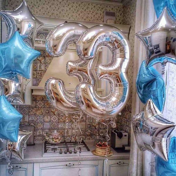 Воздушные шары. Доставка в Москве: Шарики на 33 года Цены на https://sharsky.msk.ru/