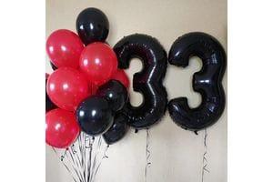 Шары на День Рождения 33 года