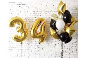 Шары на День Рождения 34 года