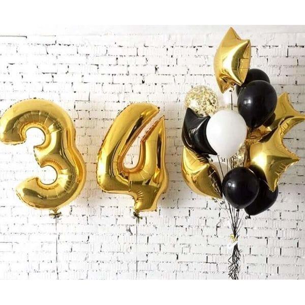 Воздушные шары. Доставка в Москве: Шары на День Рождения 34 года Цены на https://sharsky.msk.ru/