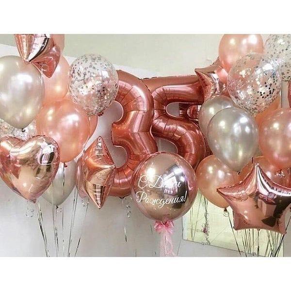Воздушные шары. Доставка в Москве: Гелиевые шарики на 35 лет Цены на https://sharsky.msk.ru/