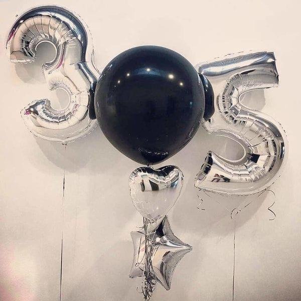Воздушные шары. Доставка в Москве: Шарики на 35 лет мужу Цены на https://sharsky.msk.ru/