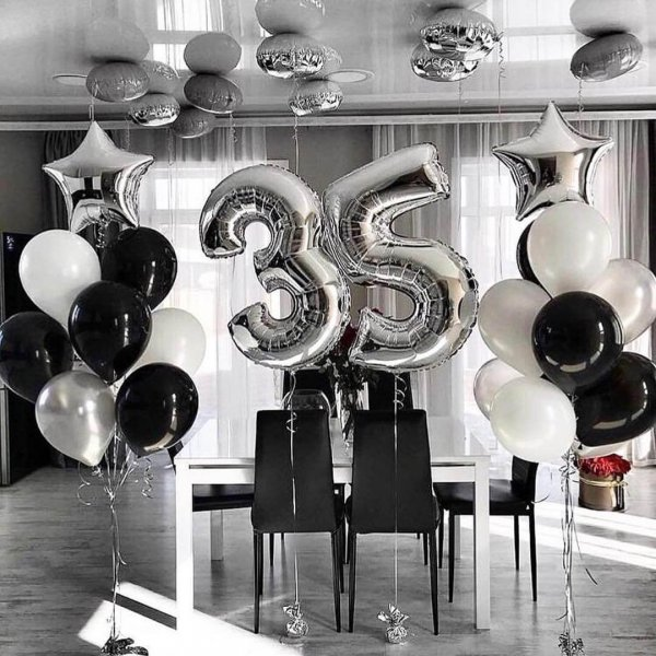 Воздушные шары. Доставка в Москве: Шары мужу на 35 лет Цены на https://sharsky.msk.ru/