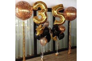 Украшение шарами на 35 лет