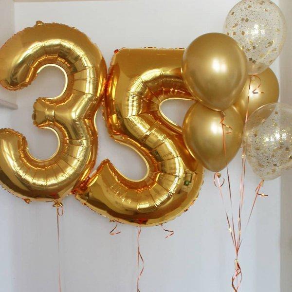 Воздушные шары. Доставка в Москве: Шарики на 35 лет Цены на https://sharsky.msk.ru/