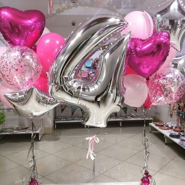Воздушные шары. Доставка в Москве: Фонтаны из шаров на 4 года Цены на https://sharsky.msk.ru/