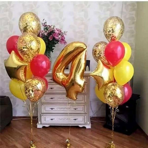 Воздушные шары. Доставка в Москве: Шары на День Рождения ребенку 4 года Цены на https://sharsky.msk.ru/