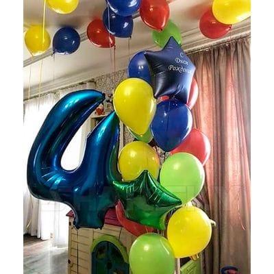 Фонтан из шаров на День Рождения мальчику