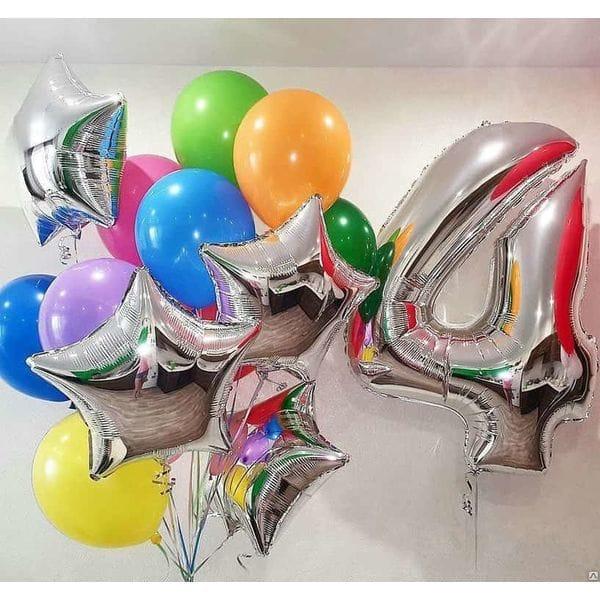 Воздушные шары. Доставка в Москве: Шарики на 4 года Цены на https://sharsky.msk.ru/