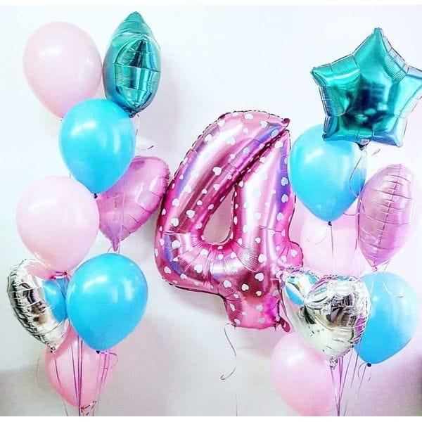Воздушные шары. Доставка в Москве: Шары на День Рождения ребенку 4 годика Цены на https://sharsky.msk.ru/