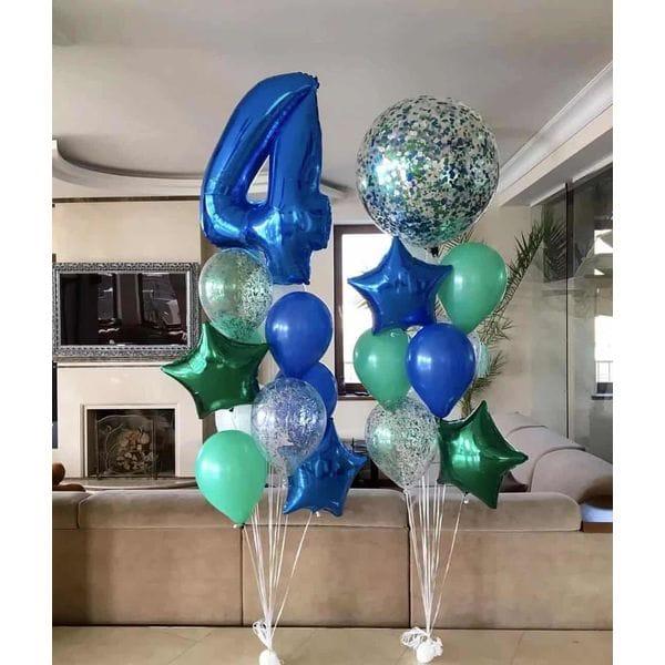 Воздушные шары. Доставка в Москве: Шарики на День Рождения ребенку 4 года Цены на https://sharsky.msk.ru/