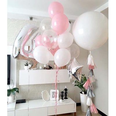 Оформление шарами на 4 года девочке