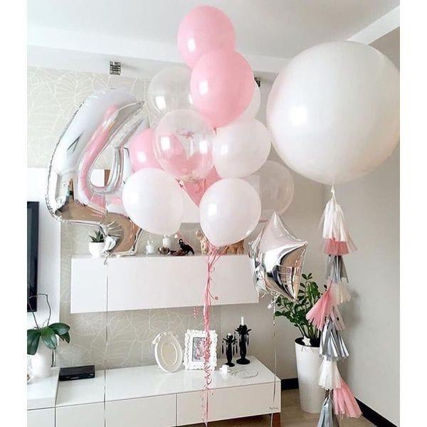 Воздушные шары. Доставка в Москве: Оформление шарами на 4 года девочке Цены на https://sharsky.msk.ru/