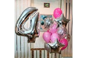 Воздушные шары на 4 года девочке