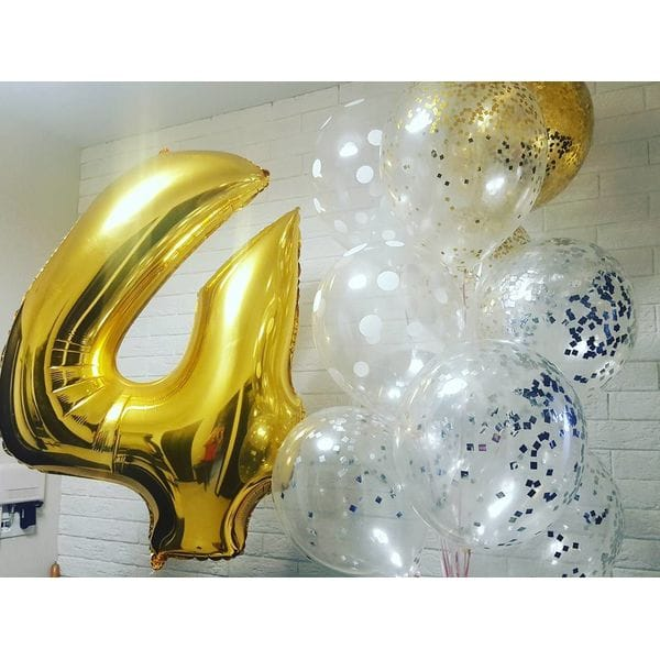 Воздушные шары. Доставка в Москве: Шары на День Рождения 4 года Цены на https://sharsky.msk.ru/