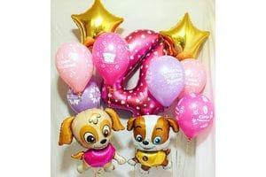 Шары на День Рождения 4 года девочке