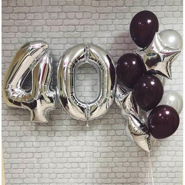 Воздушные шары. Доставка в Москве: Шары на День Рождения 40 лет Цены на https://sharsky.msk.ru/