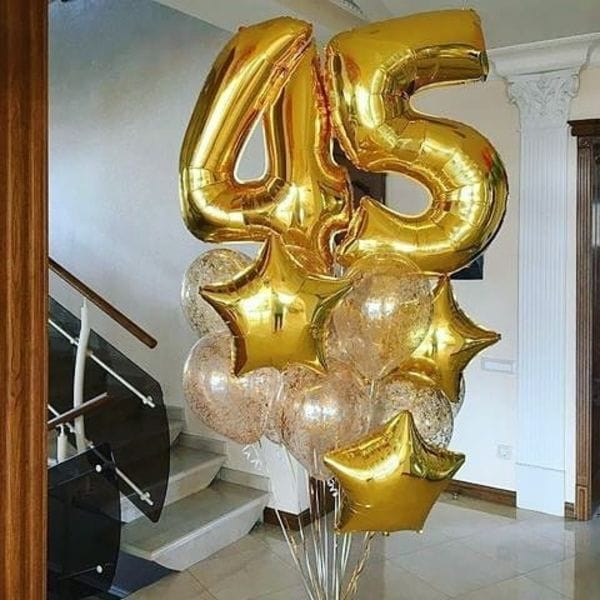 Воздушные шары. Доставка в Москве: Шары на 45 лет Цены на https://sharsky.msk.ru/