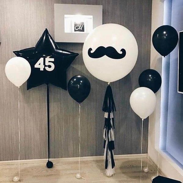 Воздушные шары. Доставка в Москве: Шары на 45 лет мужчине Цены на https://sharsky.msk.ru/