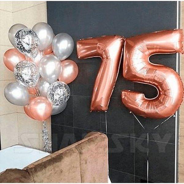 Воздушные шары. Доставка в Москве: Шары на 75 лет Цены на https://sharsky.msk.ru/
