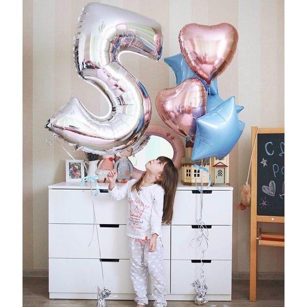 Воздушные шары. Доставка в Москве: Шарики на 5 лет девочке Цены на https://sharsky.msk.ru/