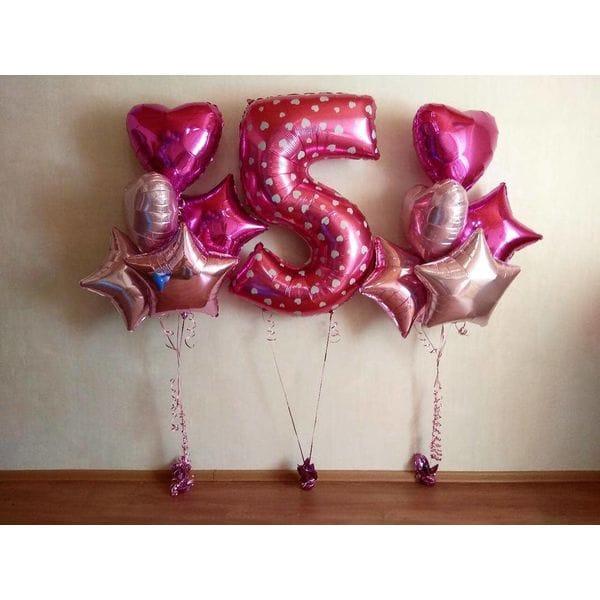 Воздушные шары. Доставка в Москве: Шары на День Рождения ребенку 5 лет Цены на https://sharsky.msk.ru/