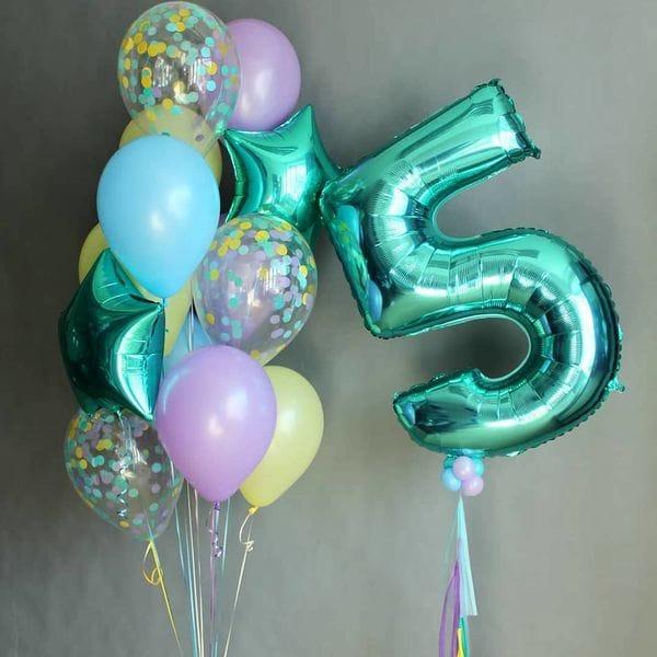 Воздушные шары. Доставка в Москве: Воздушные шары на 5 лет Цены на https://sharsky.msk.ru/