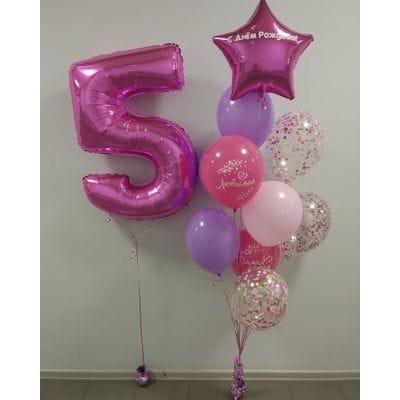 Воздушные шары на 5 лет девочке