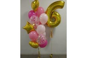 Фонтан шаров для девочки на 6 лет