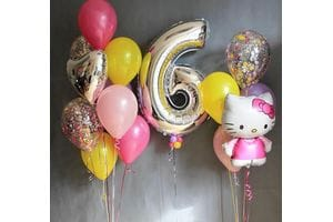 Фонтаны шаров для девочки на 6 лет