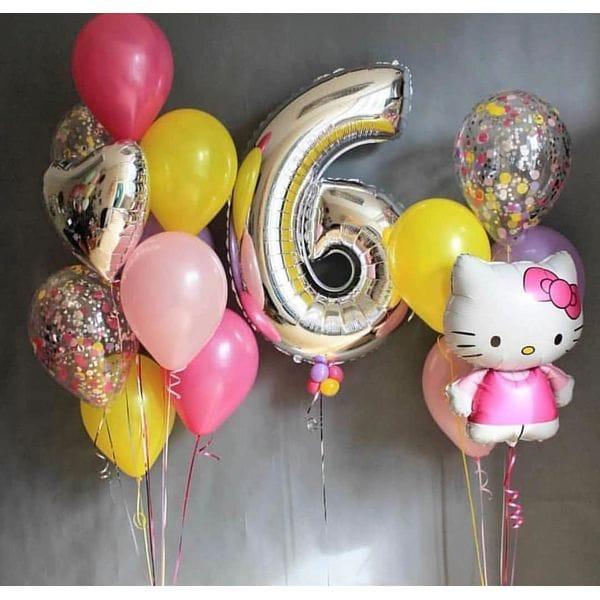 Воздушные шары. Доставка в Москве: Фонтаны шаров для девочки на 6 лет Цены на https://sharsky.msk.ru/