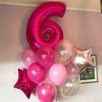 Шарики на День Рождения девочке 6 лет