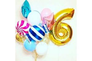 Воздушные шары на 6 лет